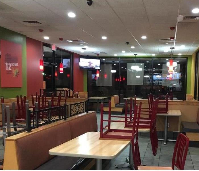inside view of fast food restaurant